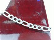 Silver Figaro Bracelet 925 Silver 3.1g
